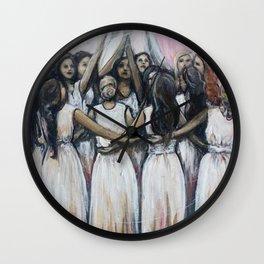 Sister Circle // Women Feminism Feminist Sisterhood Goddess Earth Moon Unity Peace Love Power Energy Wall Clock