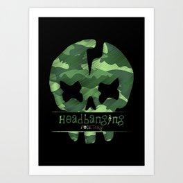 headbanging fucktory skull Art Print