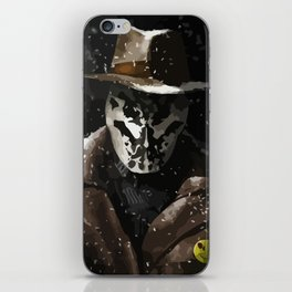 Tonight, a comedian died in New York (Watchmen Rorschach The Comedian) iPhone Skin