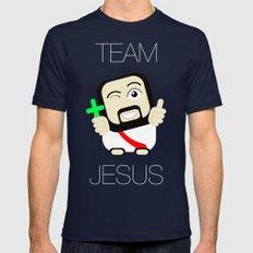 Team Jesus Mens Fitted Tee Navy MEDIUM