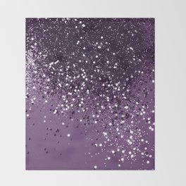 PURPLE Glitter Dream #1 #shiny #decor #art #society6 Throw Blanket