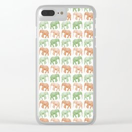 Little Elephants Clear iPhone Case