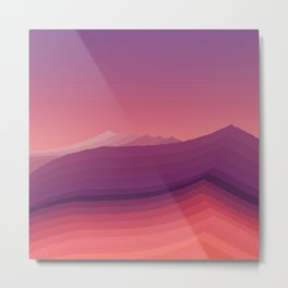 iso mountain evening Metal Print