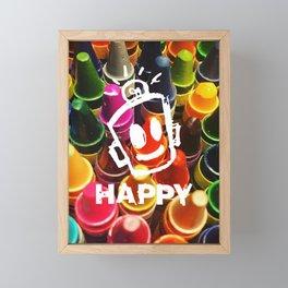 Crayon HAPPY Framed Mini Art Print