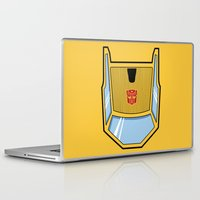 transformers Laptop & iPad Skins featuring Transformers - Sunstreaker by CaptainLaserBeam