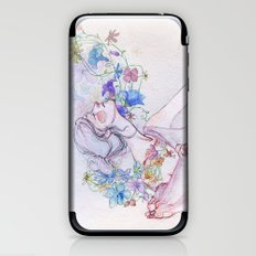 The lady and the flowers. iPhone & iPod Skin