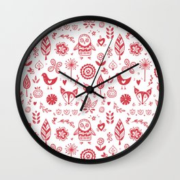 Nordic ornaments Wall Clock