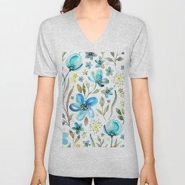 flower watercolor 5 Unisex V-Neck