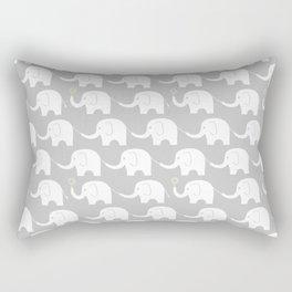 Elephant Parade on Grey Rectangular Pillow