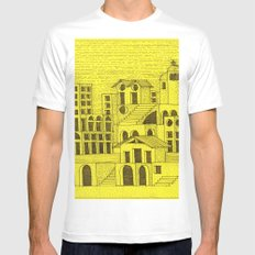 Architectural fantasy_4 MEDIUM White Mens Fitted Tee