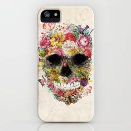 Floral Skull iPhone Case