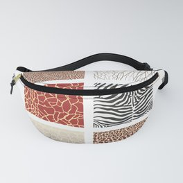 Africa - background with text and texture wild animal Fanny Pack