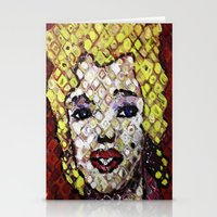 marylin monroe Stationery Cards featuring MARYLIN MONROE by JANUARY FROST