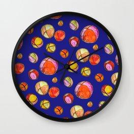 Juggling Balls (blue background) Wall Clock