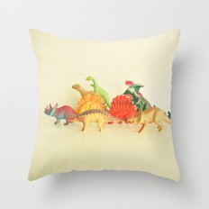 Walking With Dinosaurs Throw Pillow