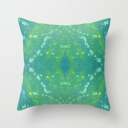 Green Abstract Bright Pattern 1 Throw Pillow