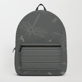 Dragonfly Pattern on Warm Grey Backpack