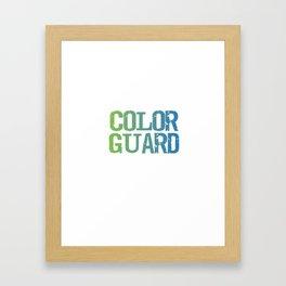 Spinning 6 Ft of Attitude Color Guard Pride T-Shirt Framed Art Print