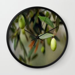 Olives On A Branch Wall Clock