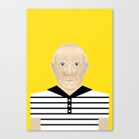 pablo picasso Canvas Prints featuring Pablo Picasso by Matteo Lotti