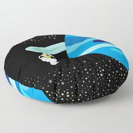 Space Odyssey | Astronaut & Planet | Space | Saturn | Galaxy | pulps of wood Floor Pillow