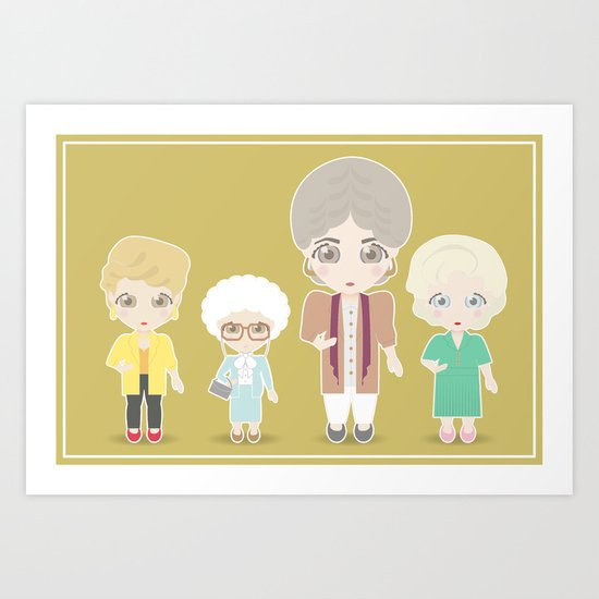 Girls in their Golden Years Art Print