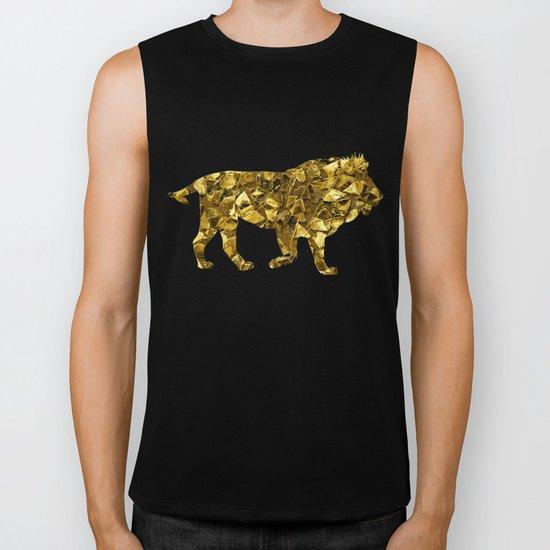 Animal Mosaic - The Lion Biker Tank