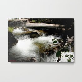 Cascades on Fall Creek in the Weminuche Wilderness, No. 1 of 2 Metal Print