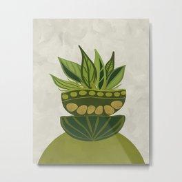Still life Green plants Metal Print