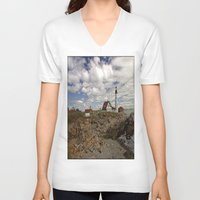 portland V-neck T-shirts featuring Portland Headlight by Catherine1970