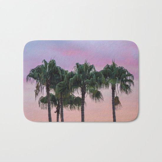 Island Paradise Palm Trees Bath Mat
