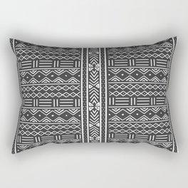 Charcoal Grey African Mudcloth Rectangular Pillow