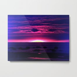 Incredible Sunset by the Sea Metal Print