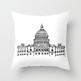 Around the World - Washington DC Throw Pillow