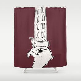 Horus falcon statue Shower Curtain