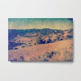 Dry Vintage desert landscape Metal Print