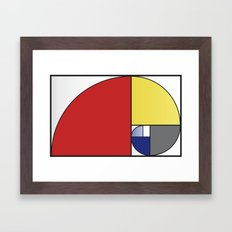 Mondrian vs Fibonacci Framed Art Print