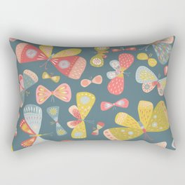 Butterfly Tango Dark Rectangular Pillow