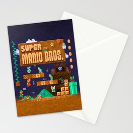 Mario Super Bros Stationery Cards