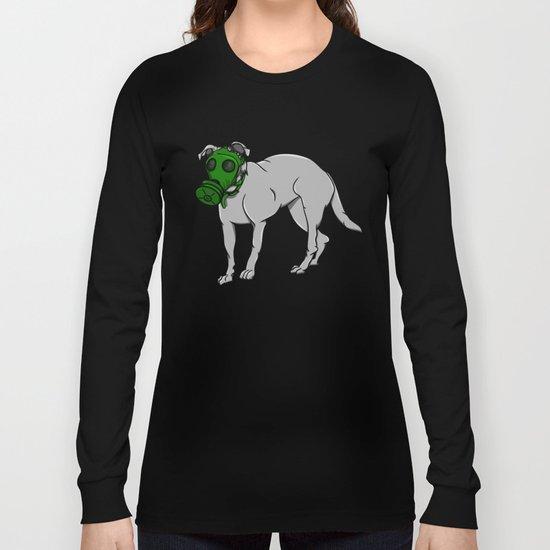 Dog Wearing A Gas Mask Long Sleeve T-shirt