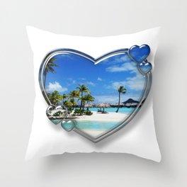 I Love Bora Bora Throw Pillow