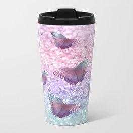 Pastel Unicorn Butterfly Glitter Dream #1 #shiny #decor #art #society6 Metal Travel Mug