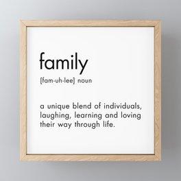 Family Definition Framed Mini Art Print