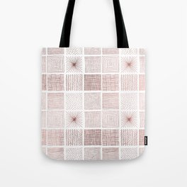 Modern faux rose gold abstract geometrical pattern Tote Bag