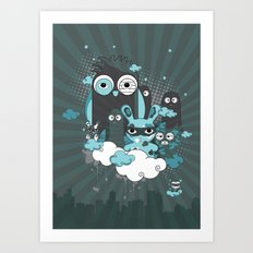 Nocturnal Friends Art Print