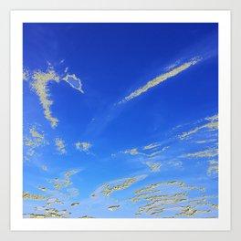 Fly, in the sky, like a butterfly ... Art Print