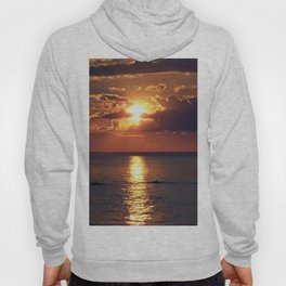 Flaming sky over Sea - Nature at its best Hoody