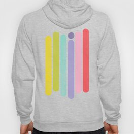 Rainbow Color Stripes Hoody
