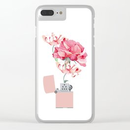 Fire destroys, fire creates Clear iPhone Case