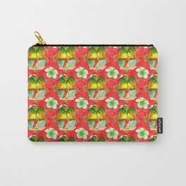 Tropical Christmas Pattern Carry-All Pouch